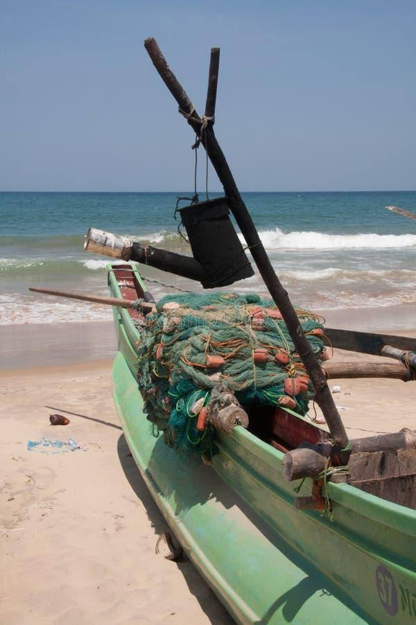 Tradycyjna lankijczyk łódź rybacka fotografia royalty free
