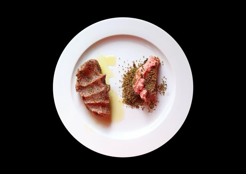 Tradycyjna Libańska kuchnia: Surowy mięso Kibbeh zdjęcia stock