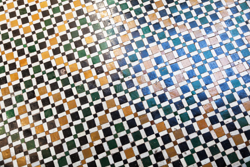 Tradycyjna mozaika w Marrakesh obrazy royalty free