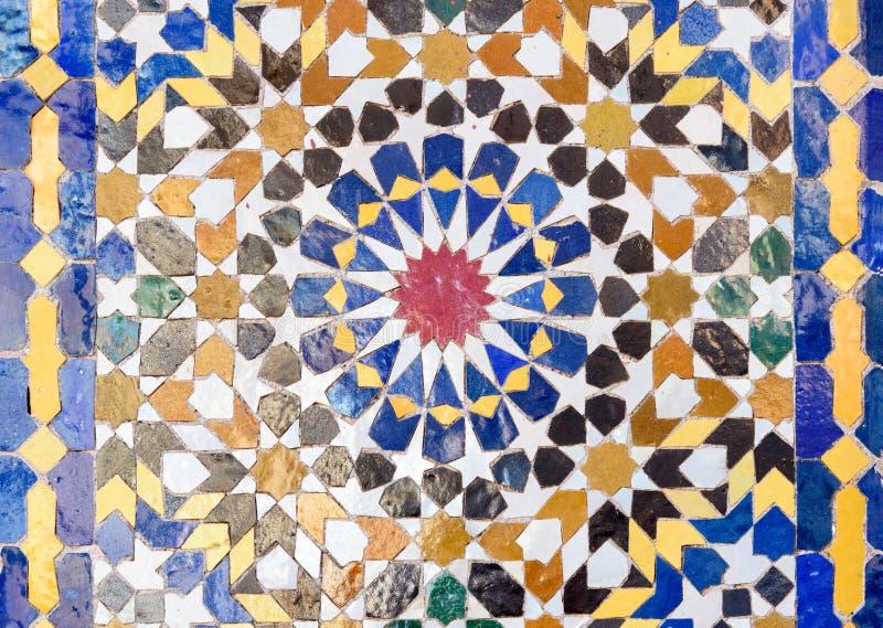 Tradycyjna mozaika w Marrakesh, Maroko obraz stock