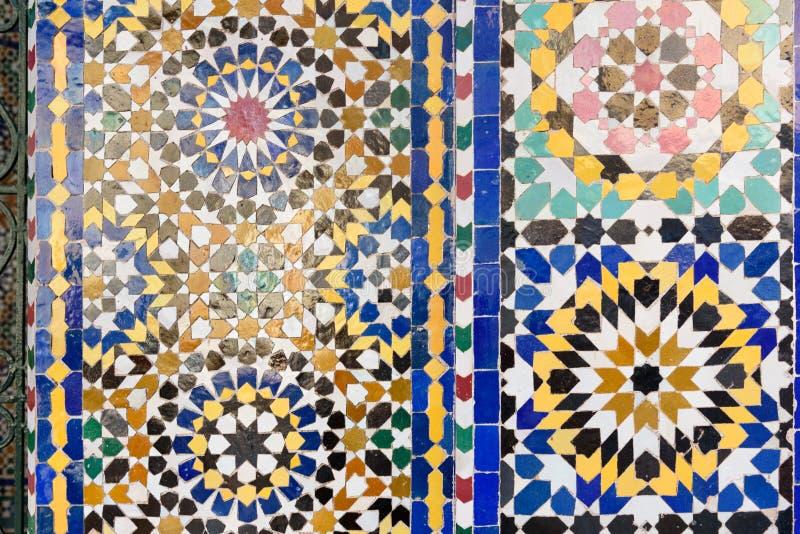 Tradycyjna mozaika w Marrakesh, Maroko fotografia stock