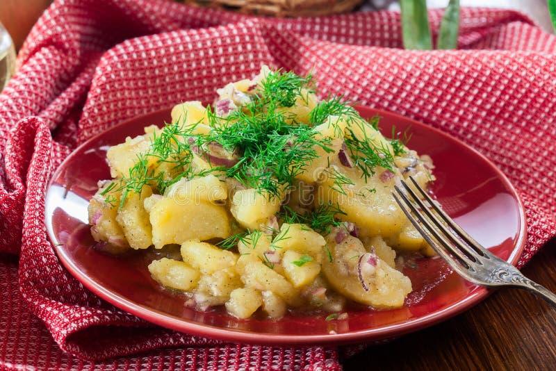 Tradycyjna Niemiecka kartoflana sałatka obrazy stock