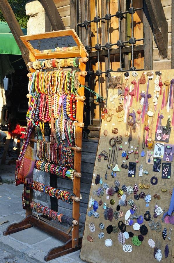 Tradycyjna pamiątka w miejscowego rynku w Bułgaria zdjęcie royalty free