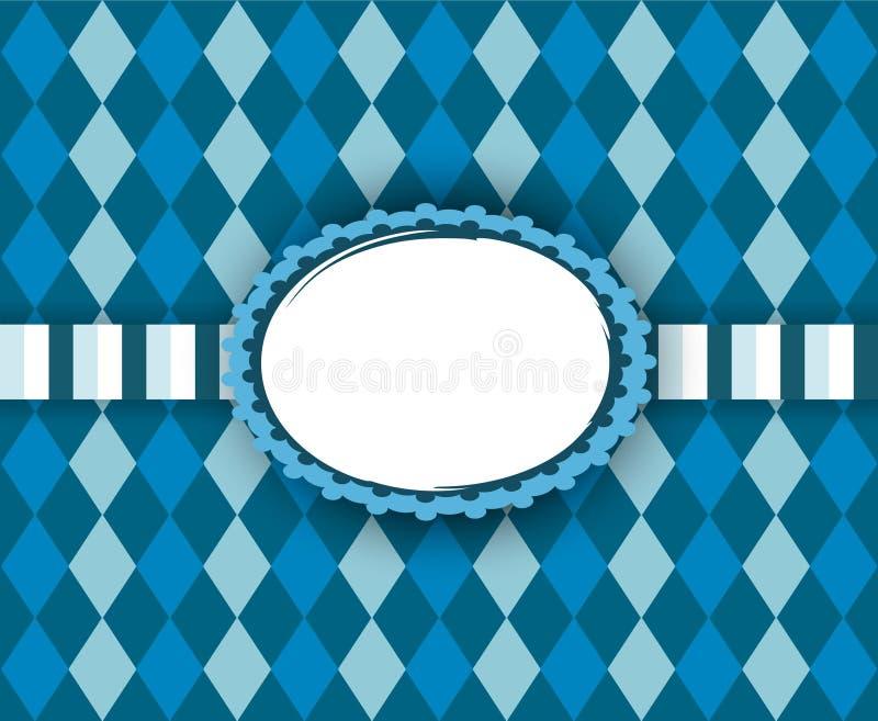 Tradycyjna rama z kopii przestrzenią dla Oktoberfest ilustracja wektor