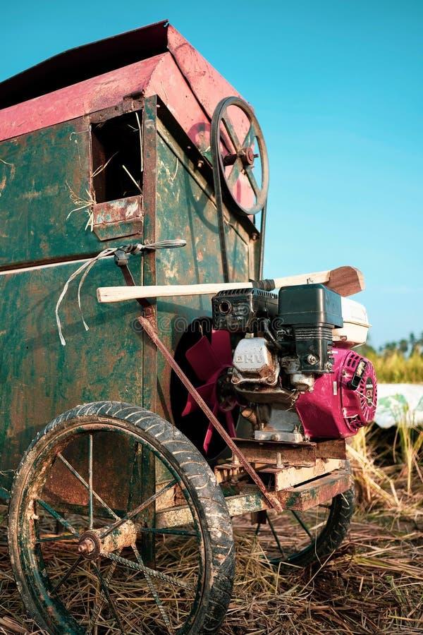 Tradycyjna Ryżowa maszyna Od Indonezja zdjęcia royalty free
