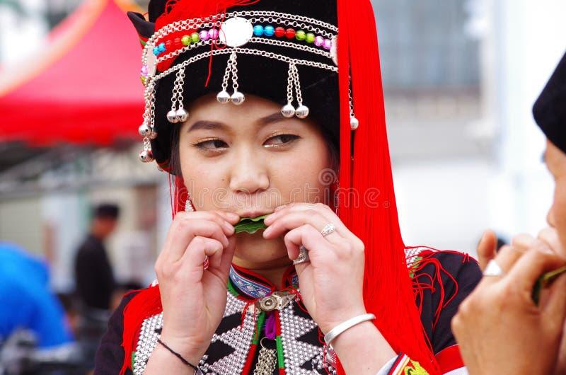 Tradycyjna suknia - Chiny obrazy royalty free