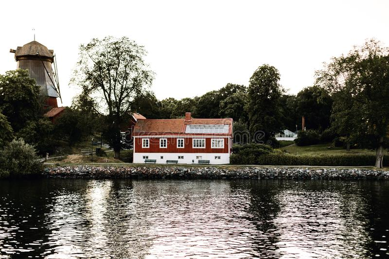 Tradycyjna Szwedzka architektura w Sztokholm, Szwecja zdjęcie stock