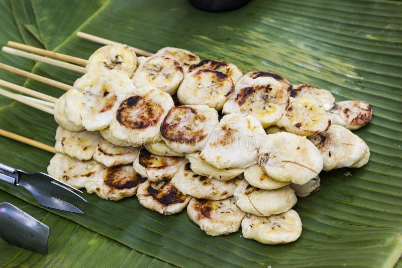 Tradycyjna Tajlandzka deserowa Bananowa grzanka zdjęcie royalty free