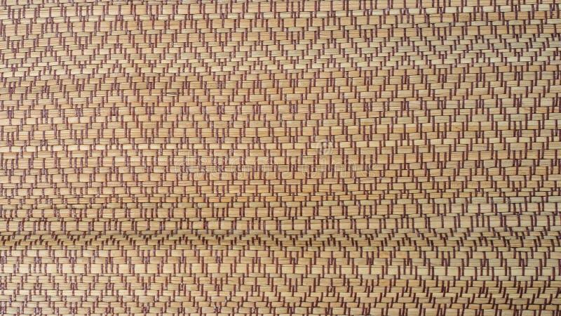 Tradycyjna Tajlandzka płochy maty tekstura Tajlandzka mata, wzór mata zdjęcie stock