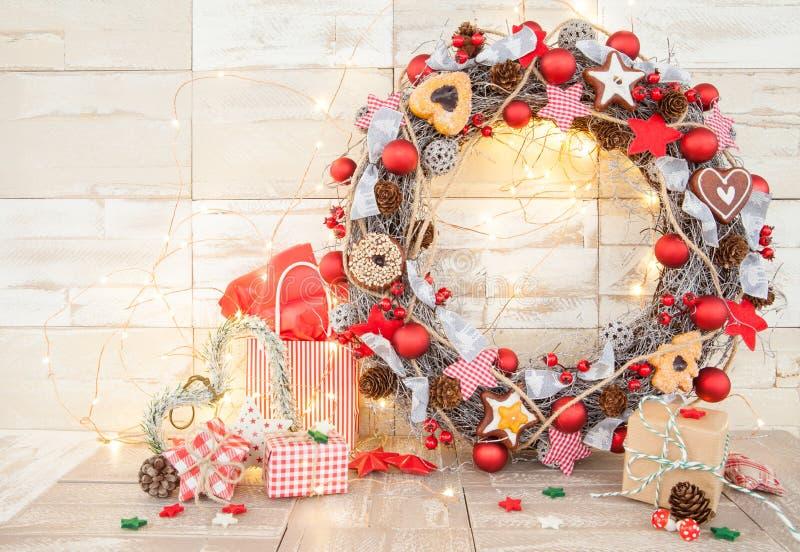 Tradycyjne Bożenarodzeniowe dekoracje zdjęcie stock