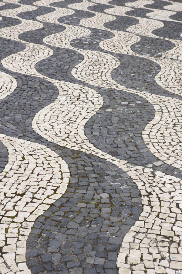 Tradycyjne brukować wyginać się kształtne formy w Pico, Azores Portugalia zdjęcie royalty free