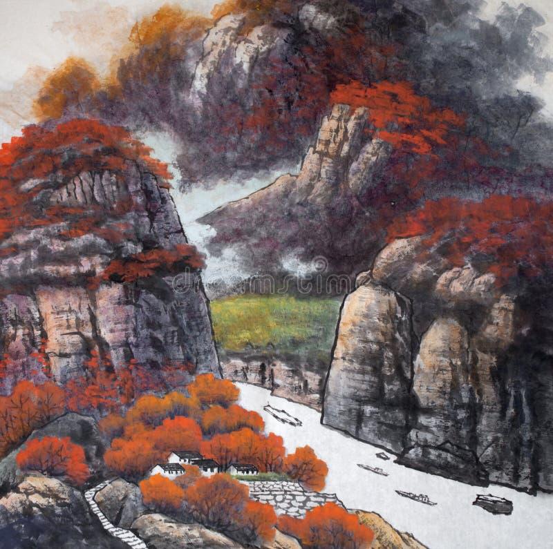 tradycyjne chiński obraz royalty ilustracja
