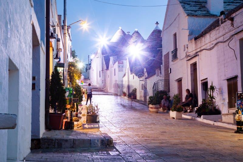 tradycyjne domy w Alberobello fotografia stock