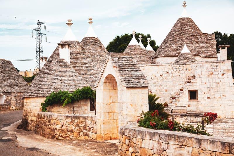 tradycyjne domy w Alberobello obraz stock