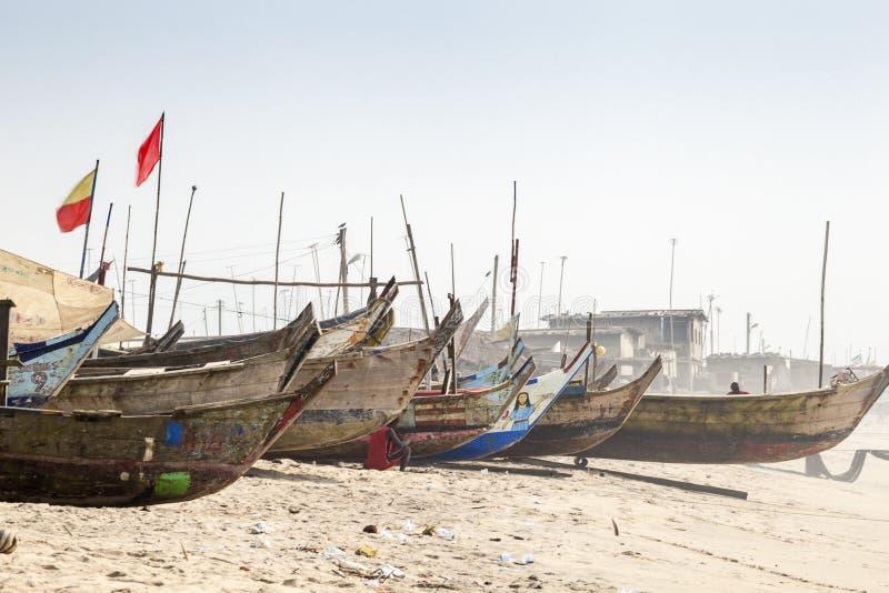Tradycyjne drewniane rybak łodzie obraz stock