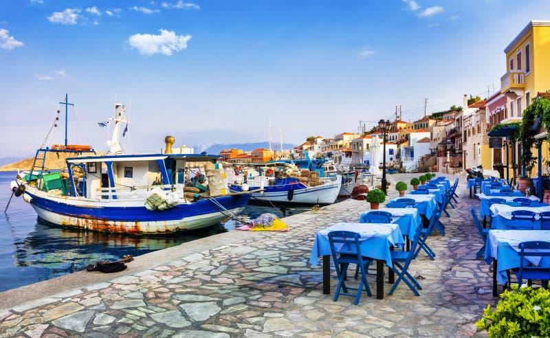 Tradycyjne Grecja serie - Chalki wyspa zdjęcie royalty free