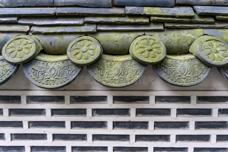 Tradycyjne koreańskie hanok płytki fotografia royalty free