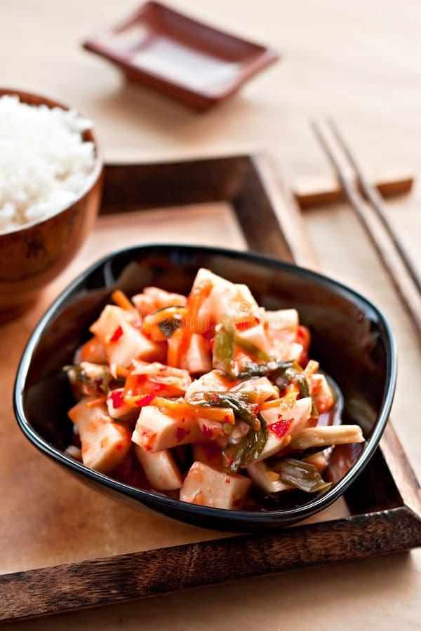 tradycyjne koreańskie kimchi zalewy obrazy royalty free