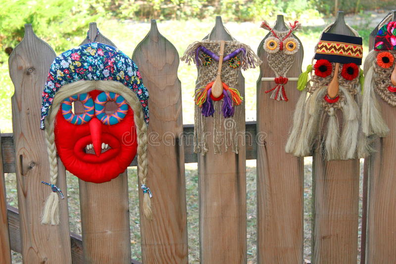 Tradycyjne romanian maski zdjęcia royalty free