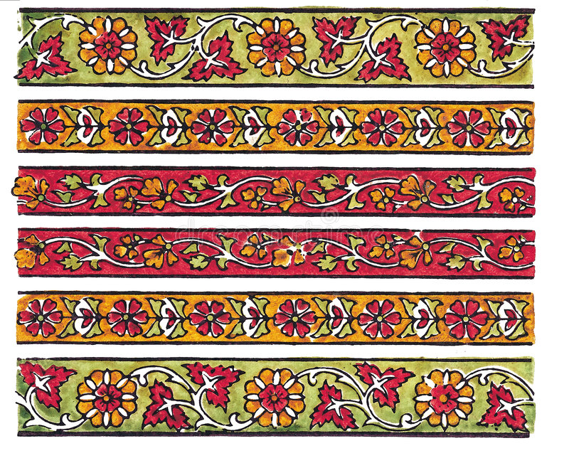 tradycyjne tekstylnego des indyjski royalty ilustracja