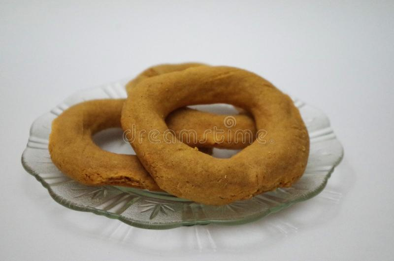 Tradycyjnego lata Honduras karmowi rosquillas robić od cruncy rosquillas zdjęcia royalty free