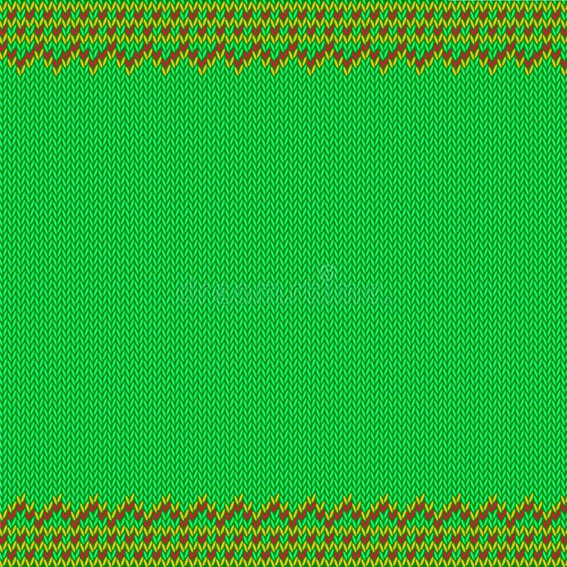 Tradycyjnego Uczciwego wyspa stylu Bezszwowy Trykotowy wzór ilustracja wektor
