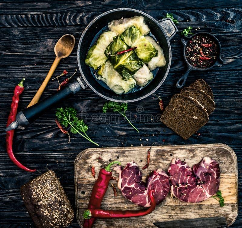Tradycyjnego ukraińskiego posiłku nazwany golubtsi zdjęcia royalty free
