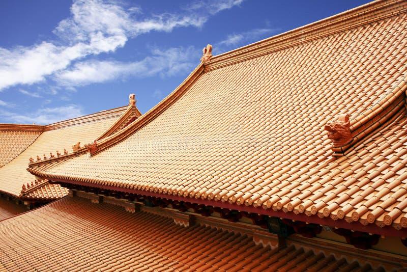 tradycyjni chińscy dachy obraz royalty free