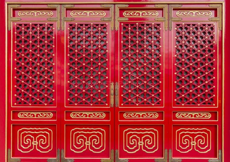 tradycyjni chińscy drzwi fotografia royalty free
