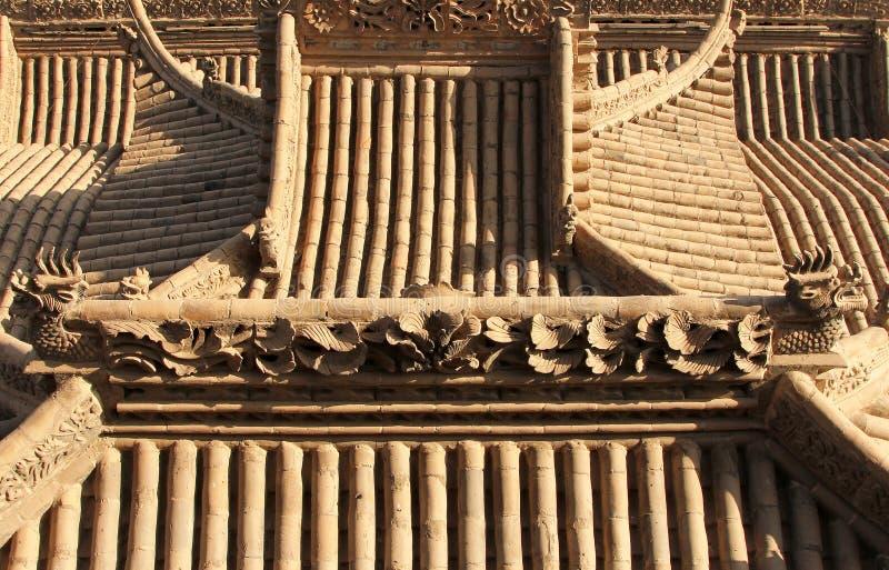 Tradycyjni chińskie dachówkowego dachu tło obraz stock