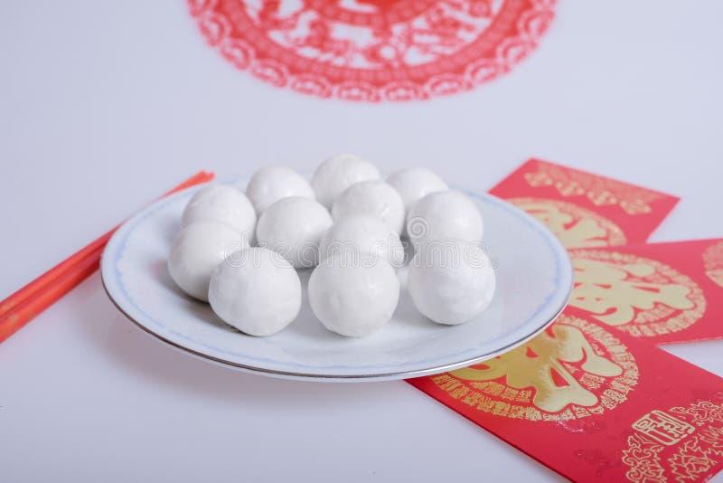 Tradycyjni chińskie glutinous ryżowe piłki obraz royalty free