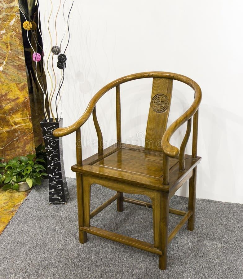 Tradycyjni Chińskie krzesło w orientalnym stylu, wschodnio-azjatycki klasyczny krzesło obraz stock