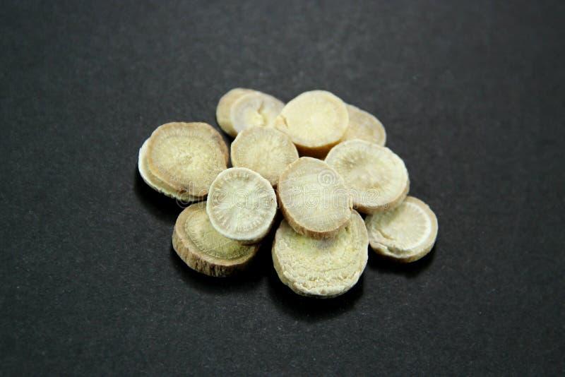 Tradycyjni Chińskie medycyna - Baishao (biały peonia korzeń) fotografia royalty free