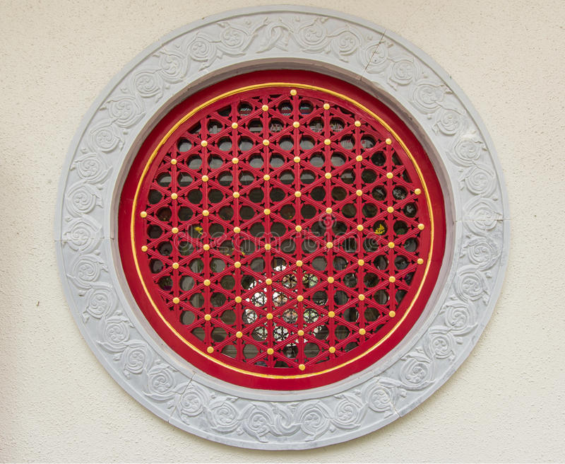 Tradycyjni chińskie okno od Kamiennej ściany zdjęcie stock
