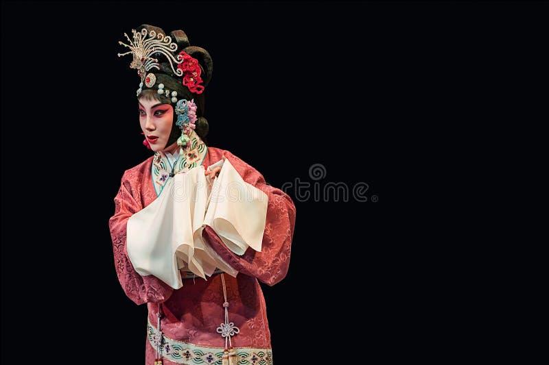 Tradycyjni Chińskie opera przy Chang teatr, Pekin, Chiny obraz stock