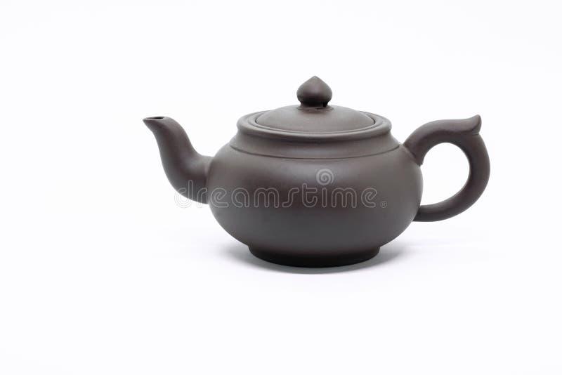 Tradycyjni Chińskie teapot robić Issinclay glina, herbaciany ceremonion, odizolowywający na białym tle zdjęcia royalty free