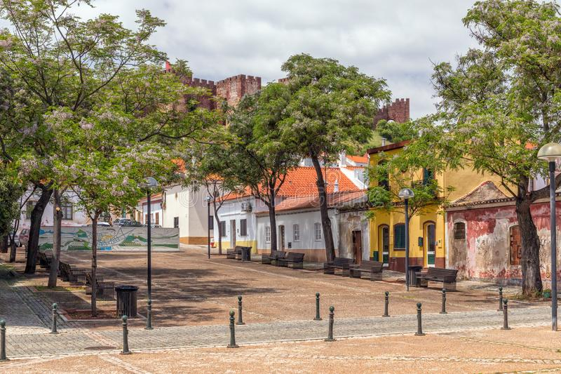 Tradycyjni domy, Silves, Portugalia fotografia royalty free