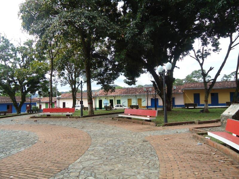 Tradycyjni domy w miasteczku lokalizować w stanów barinas w Wenezuela obrazy stock