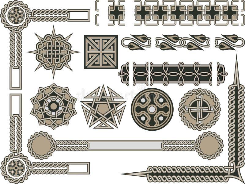 tradycyjni elementy ilustracja wektor