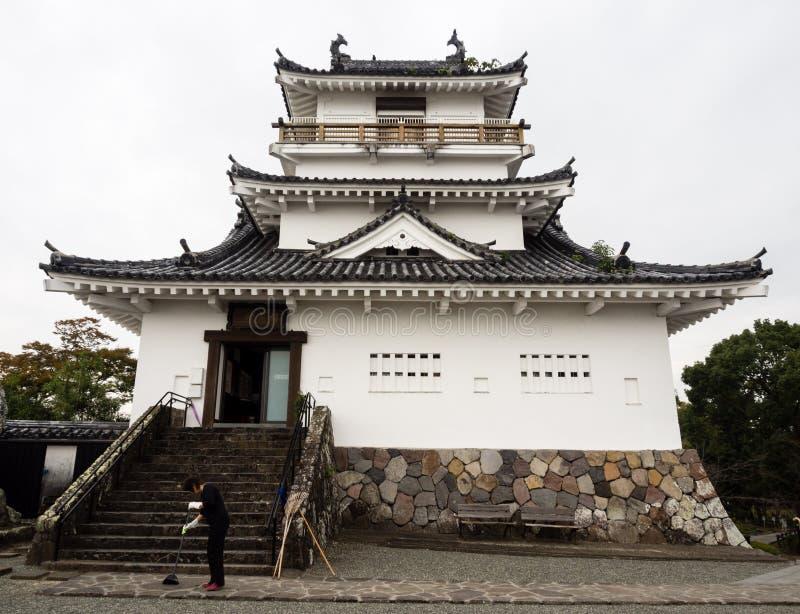 Tradycyjni Japońscy samurajowie roszują w Kitsuki, Oita prefektura zdjęcie royalty free