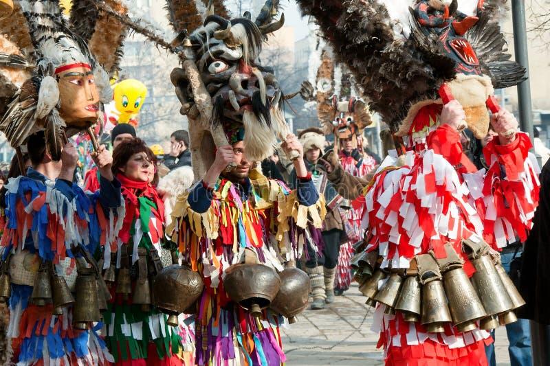 Tradycyjni kostiumy przy maskaradowymi grami zdjęcia stock