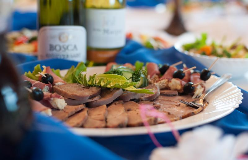 Tradycyjni litwinów naczynia z mięsem obrazy royalty free