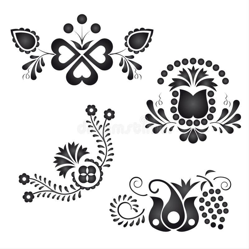 Tradycyjni ludowi ornamenty ilustracji
