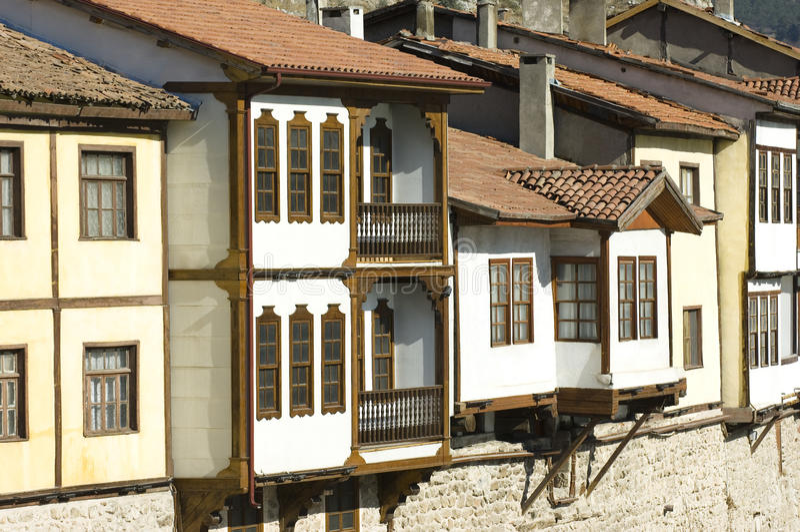 Tradycyjni otomanów domy w Amasya, Turcja obraz royalty free