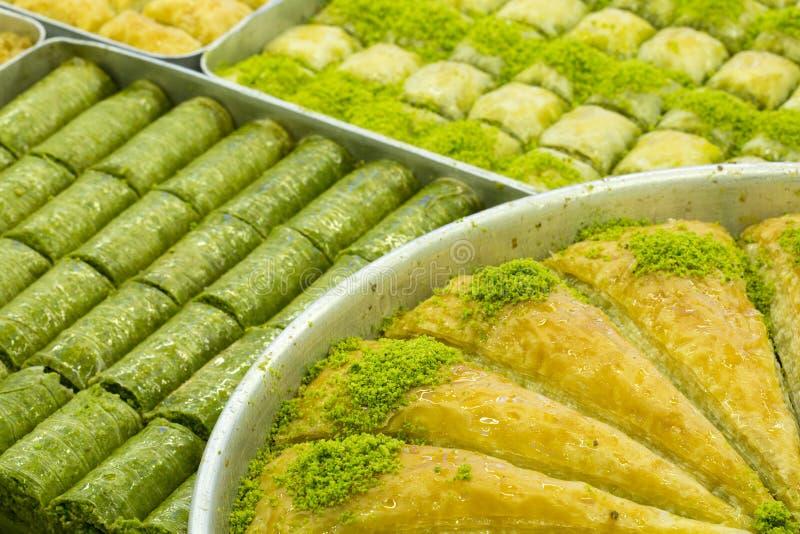 Tradycyjni Tureccy desery; Baklava fotografia stock