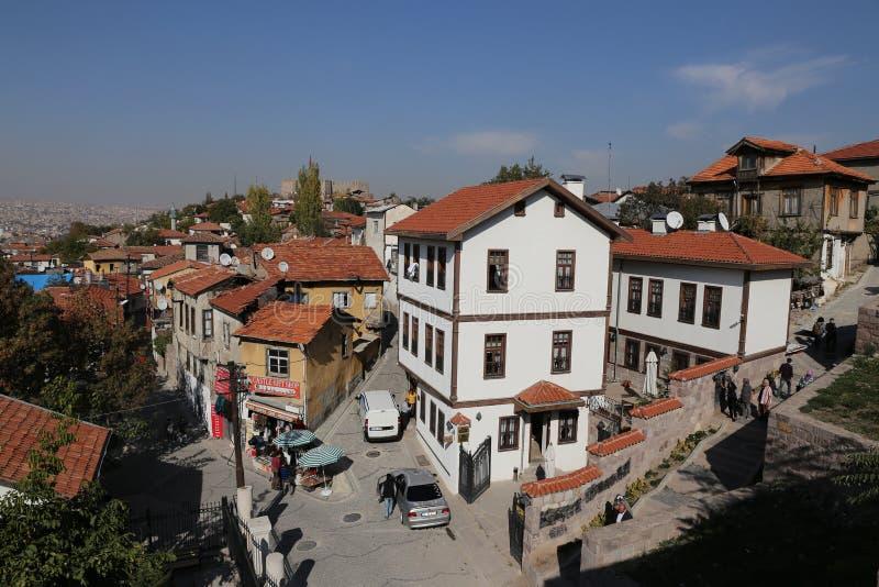 Tradycyjni turecczyzna domy w Ankara mieście obrazy royalty free
