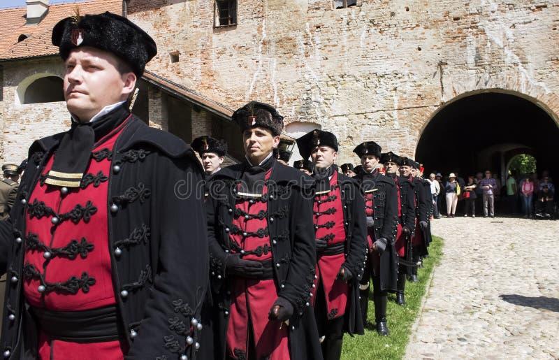 Tradycyjni wojskowi uniformy obraz stock