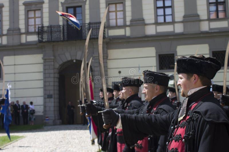 Tradycyjni wojskowi uniformy zdjęcie royalty free