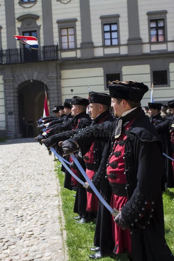 Tradycyjni wojskowi uniformy zdjęcia royalty free