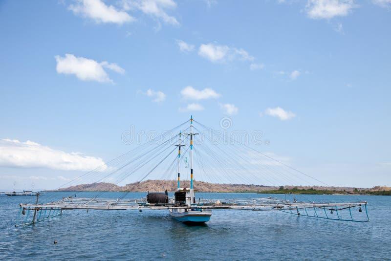 tradycyjny łódkowaty połów obraz stock